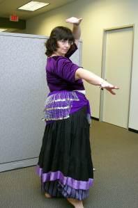 Meg, Belly Dance picture, October, 2005